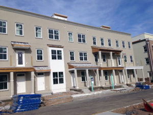 Building with new stucco