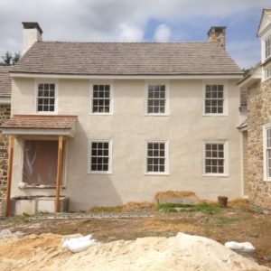 Colonial Home With New Plaster